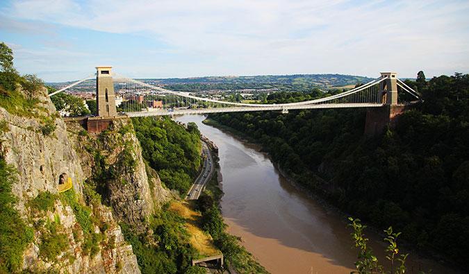 the Clifton Suspension Bridge in Bristol, England