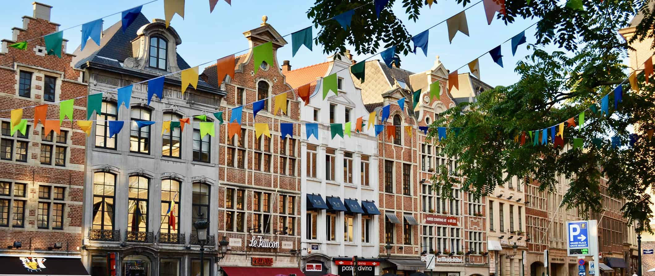 colorful streets in Brussels