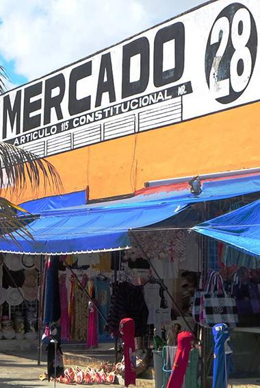 Shopping at Mercado 28 in Cancun, Mexico