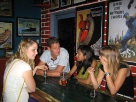 Friends from around the world in Thailand
