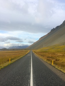 the roads are beautiful and empty in iceland