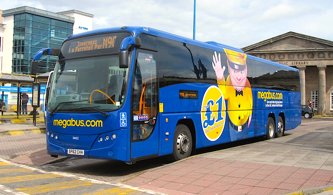 One of the cheapest ways to get around Europe is Megabus
