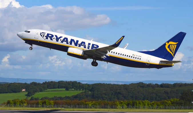 Budget airlines like Ryanair are the cheapest pptions for getting around Europe