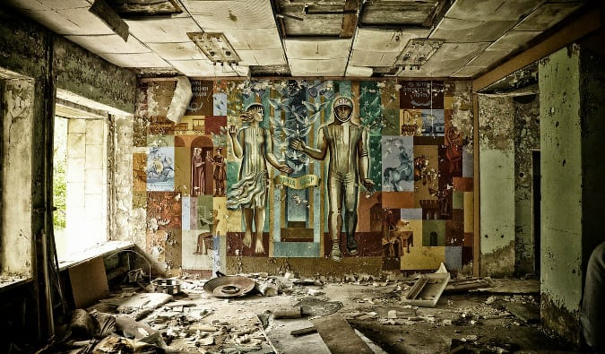 Wall art at Chernobyl