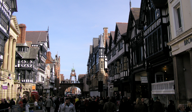 the main street in Chester England