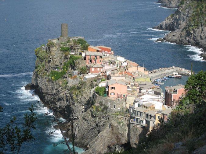 Leaving Vernazza in Cinque Terre