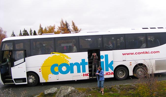 A full Contiki tourist spot
