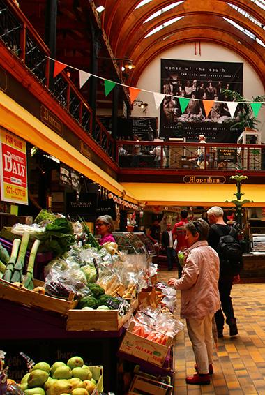 Shopping at the English Market in Cork, Ireland