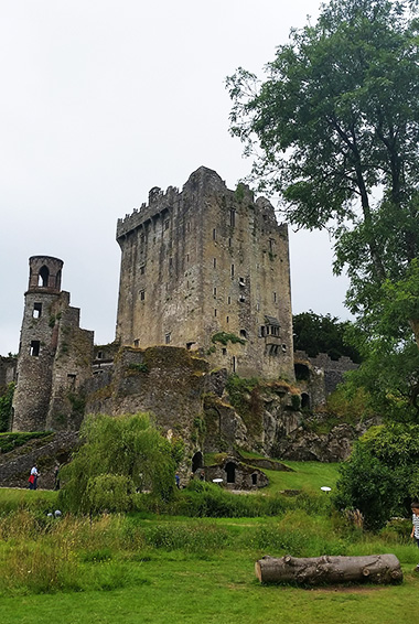 Visiting the Blarney Stone in Ireland