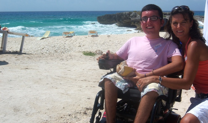 cory traveling the world in a wheelchair
