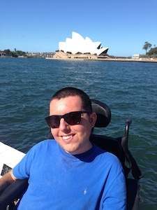 cory lee who travels the world in a wheelchair