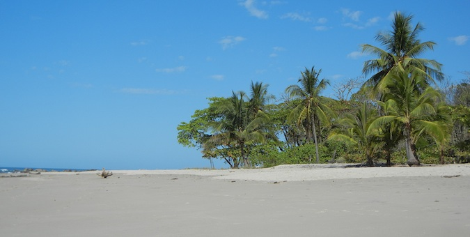 Blue sky at the beach near Santa Teresa, Costa Rica