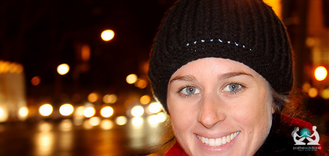 Woman spending some important time alone at night while traveling with her partner around the world
