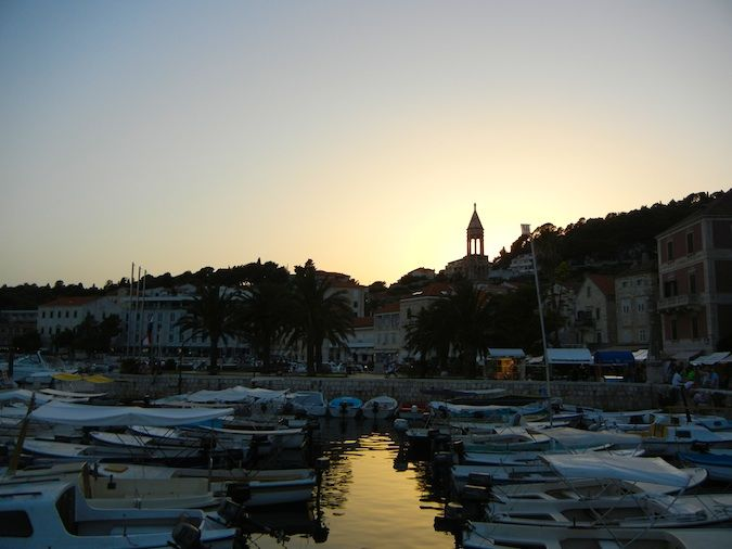 Sunset in Hvar
