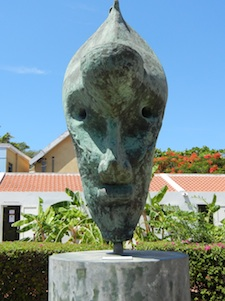 Statue in Curacao, an island in the Caribbean