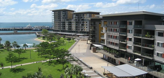 the wharf area in darwin