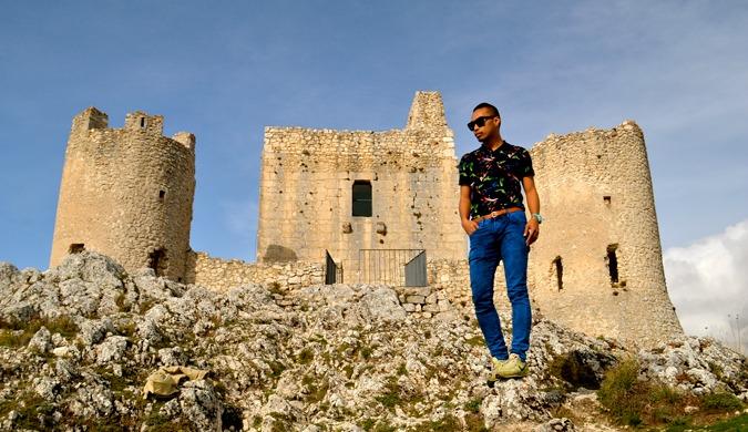 DJ from Dream Euro Trip posing like a fashion model