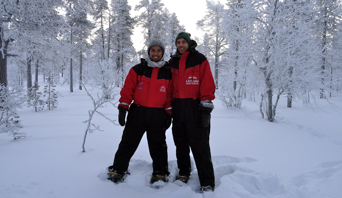 DJ from Dream Euro Trip skiing