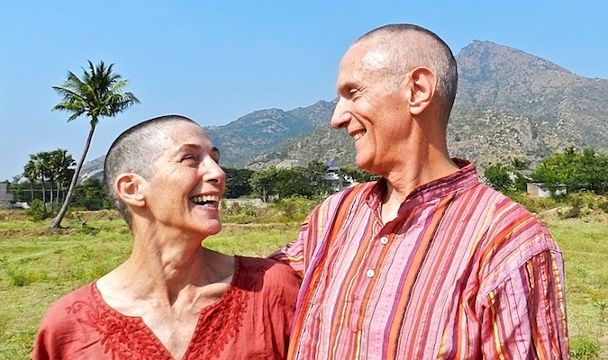 don and alison, a happy senior couple traveling the world