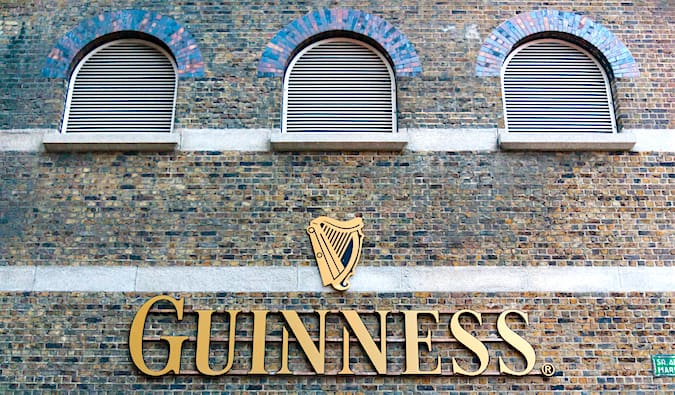 The sign at the Guinness Factory in downtown Dublin