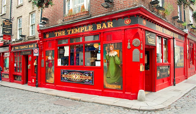 Temple Bar Ireland is the big festive place to party