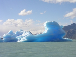 a melting iceberg