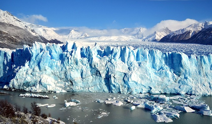 A large glacier in Patagonia in Argentia