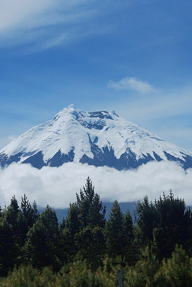 snow covered Cotopaxi Mountain