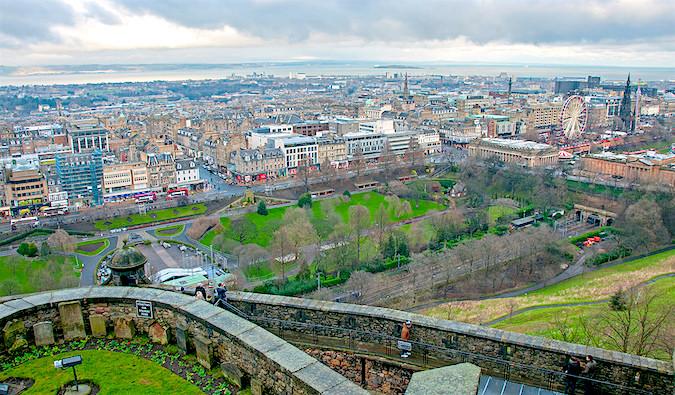 view of edinburgh scotland