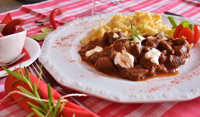 Eastern European goulash dinner - Prague