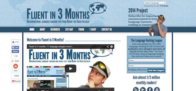 fluent in three months blog screenshot