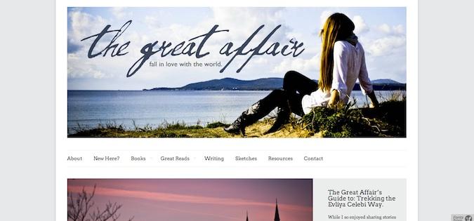 the great affair blog screenshot
