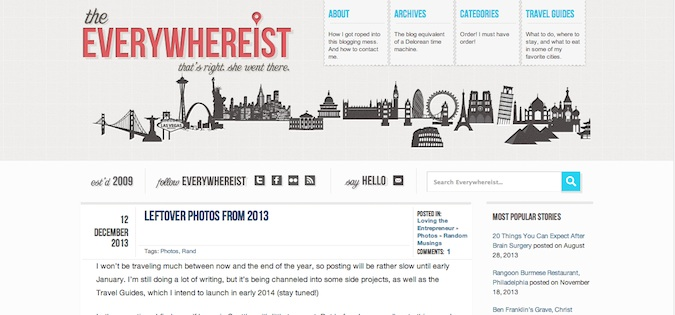 The Everywhereist blog screenshot
