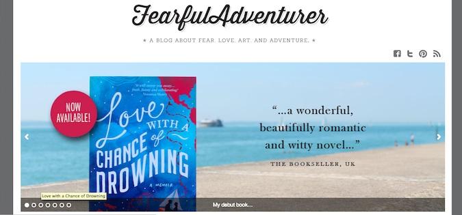 fearful adventurer blog screenshot