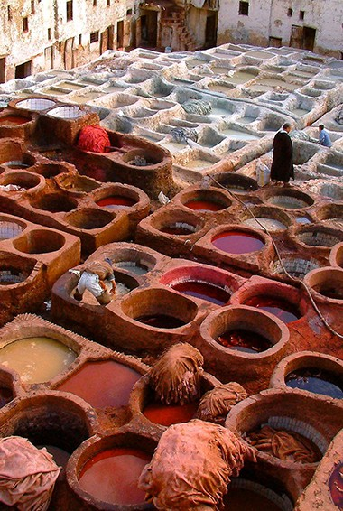The Chouara Tanneries in Fez, Morocco