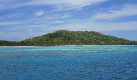 A photo of the Yasawa islands in Fiji from afar
