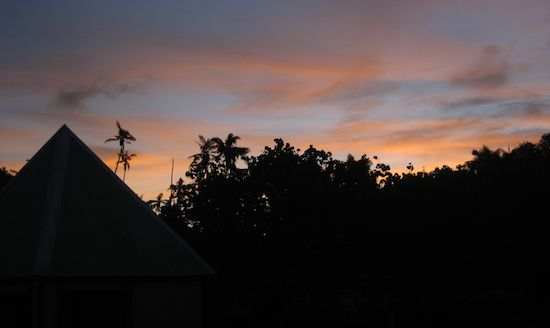 The sunsets in Fiji are pink and stunning