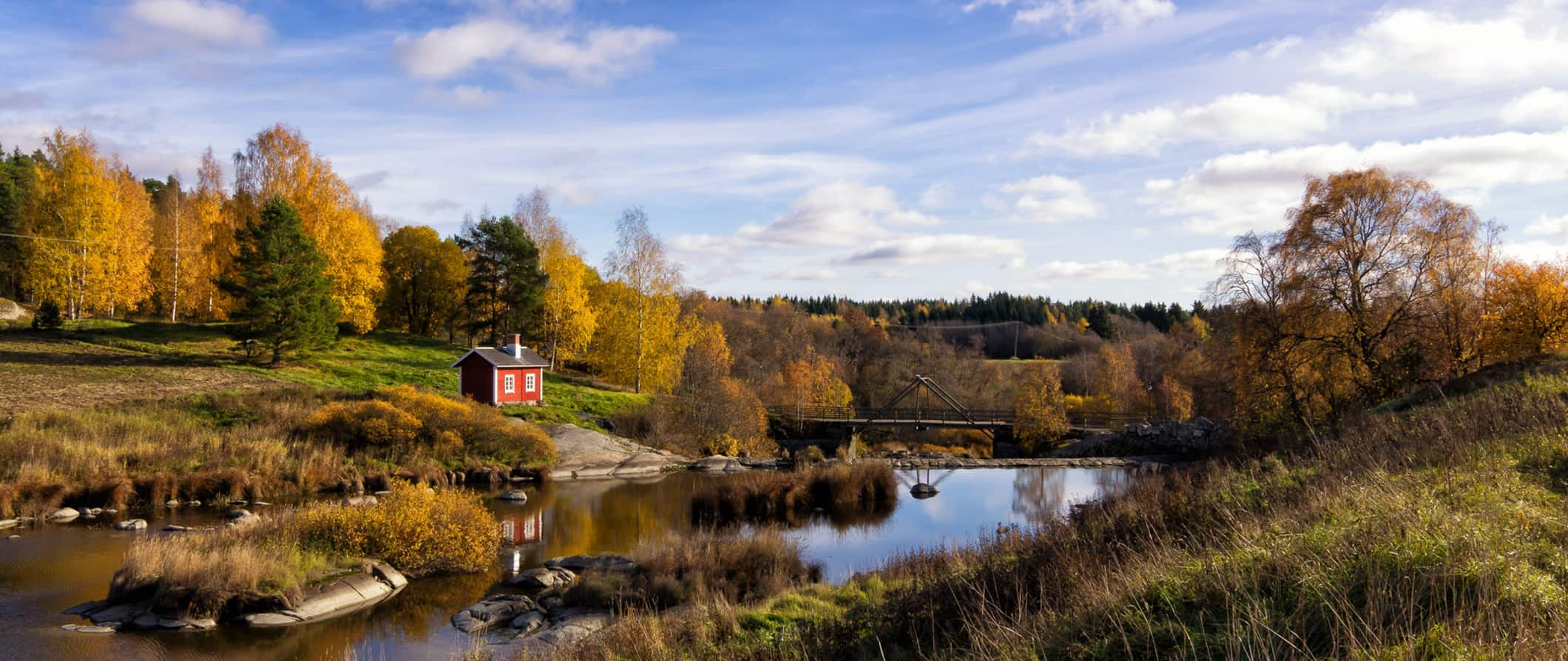 a serene nature scene in Finland