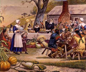 Thanksgiving scene from history