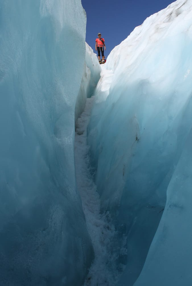 heli-hiking on the Franz Josef glacier in New Zealand; photo by Flickr @elisfanclub (Eli Duke)