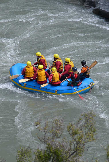 White-water rafting in New Zealand