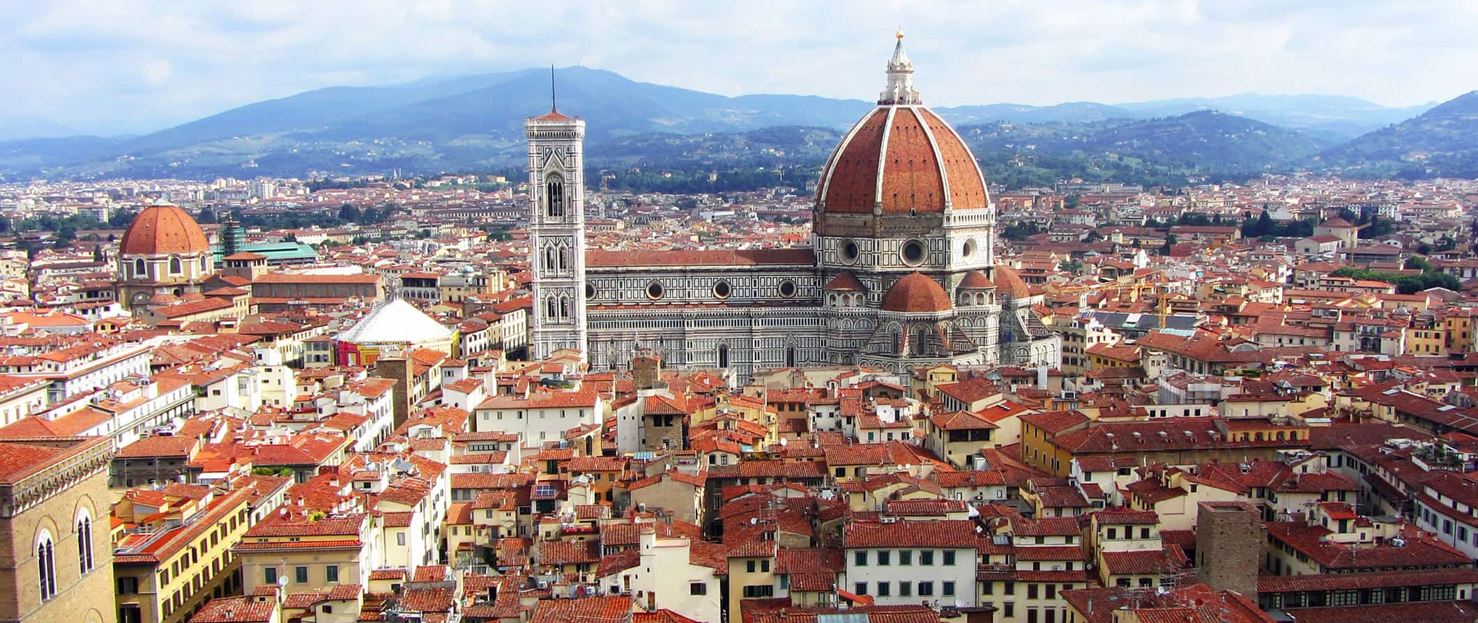 rooftops and the Duomo in Florence, Italy