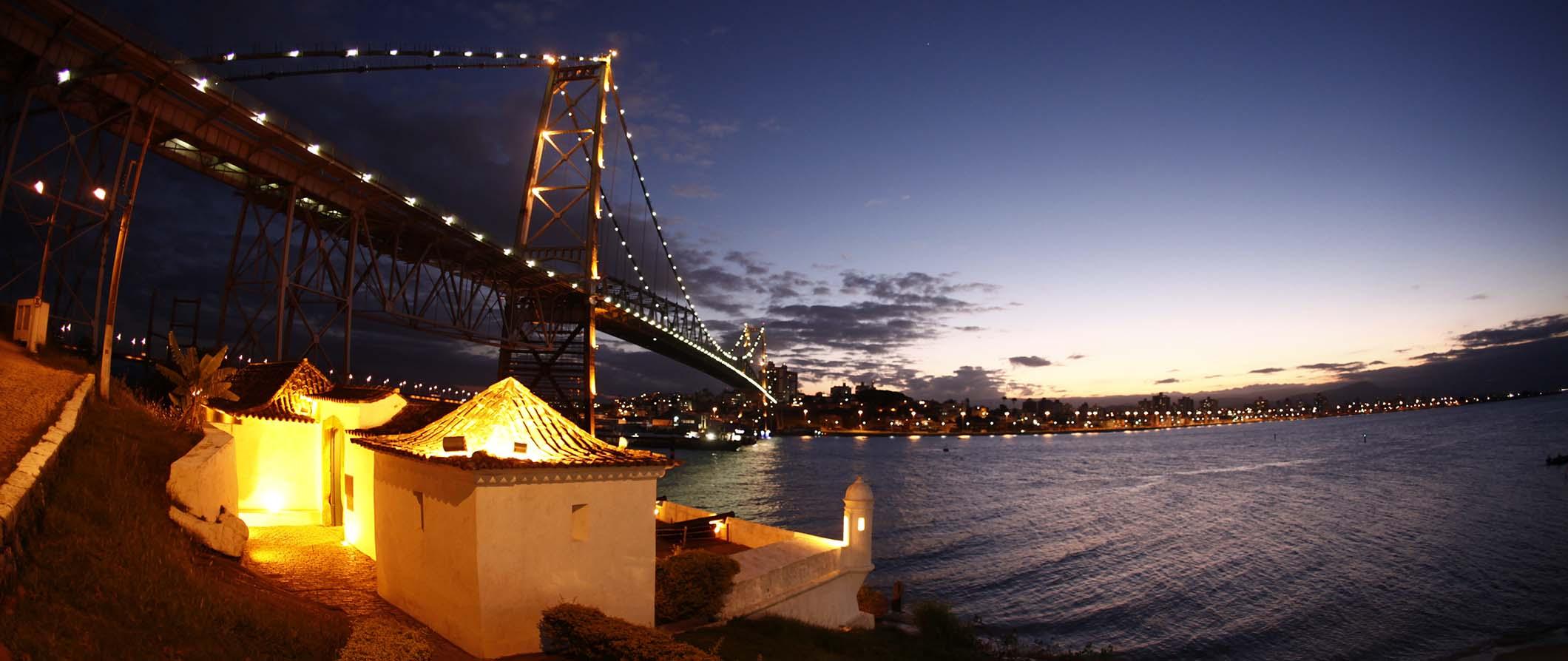 Florianópolis at night