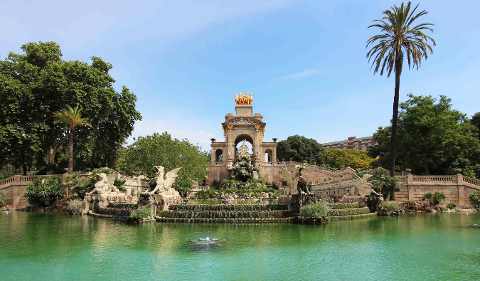 famous gaudi park in Barcelona Spain