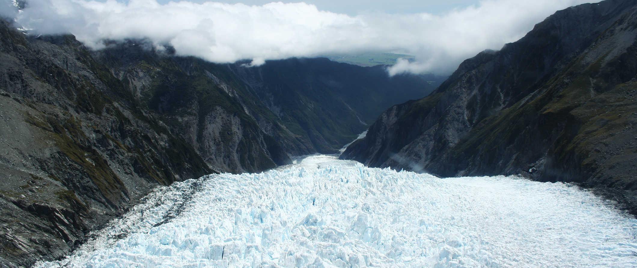 the Franz Josef glacier, New Zealand