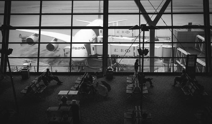 inside an airport