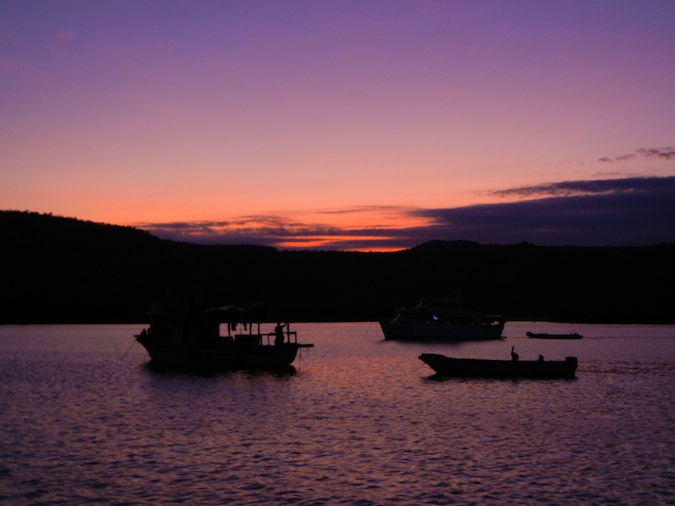 Sunset in the Galapagos Islands