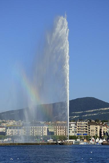 Jet d'Eau Fountain in Geneva, Switzerland