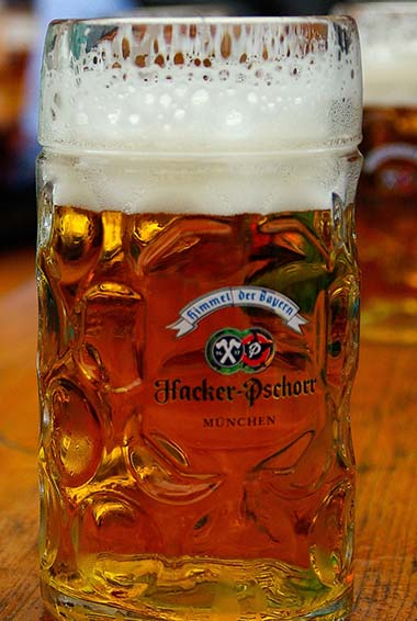 a stein of beer at Oktoberfest