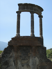 Roman Ruins on top of an Italian hill